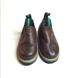 John Deere boys brown leather upper size 9.5.